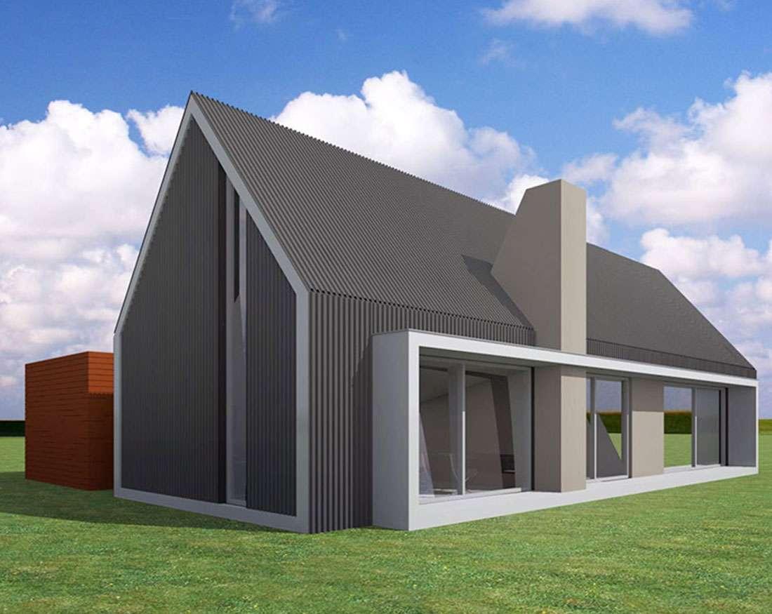 Moderne schuurwoning - Huis roestvrij staal ...